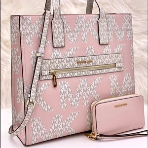 Michael Kors Large Tote and Wallet Pink